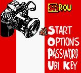 Spirou: The Robot Invasion Game Boy Color Main Menu
