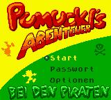 Pumuckls Abenteuer bei den Piraten Game Boy Color Main Menu