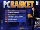 "Multi Sports Windows Main menu of ""PC Basket 4.5""."