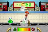 The Muppets: On with the Show Game Boy Advance Beaker must fetch all items from the belt conveyor, apart from the green potions.