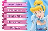 Disney's Cinderella: Magical Dreams Game Boy Advance Main menu