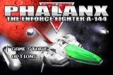 Phalanx Game Boy Advance Title screen