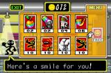"Warioland 4 Game Boy Advance Inside the item shop where you can purchase items to use at the start of a ""boss"" battle"