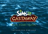 The Sims 2: Castaway PlayStation 2 Title screen.