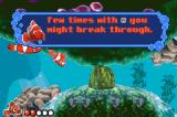 Disney•Pixar Finding Nemo Game Boy Advance Nemo's father gives tutorial instructions.