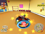 Beanotown Racing Windows Picked up a power boost just before the sharp left hand turn down the stairs and through the gym
