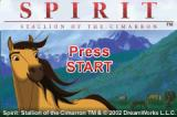 Spirit: Stallion of the Cimarron Game Boy Advance Title screen