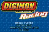 Digimon Racing Game Boy Advance Main Menu