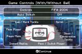 FIFA Soccer 2004 Game Boy Advance Controls
