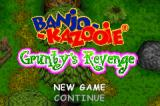 Banjo-Kazooie: Grunty's Revenge Game Boy Advance Main menu