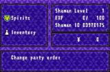 Shaman King: Legacy of the Spirits - Soaring Hawk Game Boy Advance Pause menu