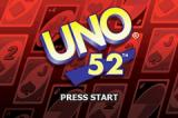 Uno 52 Game Boy Advance Title Screen