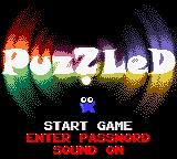 Puzzled Game Boy Color Main Menu