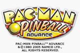 Pac-Man Pinball Advance Game Boy Advance Title screen