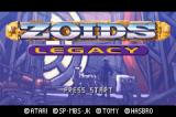 Zoids: Legacy Game Boy Advance Title screen