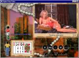 Digital Strip Poker featuring Carrie Westcott Windows Dealing new hand without sweater (Fuzzy sweater round 2)