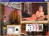 Digital Strip Poker featuring Carrie Westcott Windows Carrie folded without bra (Black dress round 3)