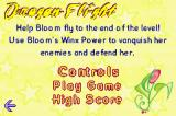 Winx Club: Quest for the Codex Game Boy Advance Menu for a mini game