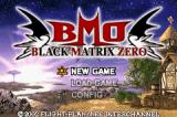 Black/Matrix Zero Game Boy Advance Main menu
