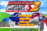 Bomberman Max 2: Red Advance Game Boy Advance Title screen and main menu