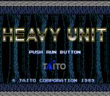Heavy Unit TurboGrafx-16 Title Screen