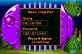 James Pond 2: Codename: RoboCod Game Boy Advance Level completed; we get a password