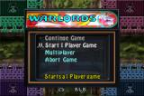 Centipede / Breakout / Warlords Game Boy Advance Warlords Main Menu