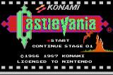 Castlevania Game Boy Advance Title Screen