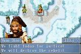 Dynasty Warriors Advance Game Boy Advance Some dialogue between the fights
