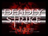 Deadly Strike PlayStation 2 Title Screen