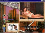 Digital Strip Poker featuring Kelly Monaco Windows Dealing new hand (White dress round 1)