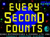 Every Second Counts ZX Spectrum Load screen