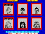 Every Second Counts ZX Spectrum After choosing the number of couples playing, in this case one, each player must be named and be linked to a picture