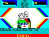 Every Second Counts ZX Spectrum An incorrect answer
