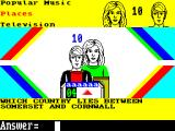 "Every Second Counts ZX Spectrum Sample Bonus Round question (and its wrong, should say ""Which county lies between ...."")"