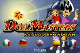 Duel Masters Kaijudo Showdown Game Boy Advance Title screen and language selection