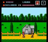 Friday the 13th NES Starting the game