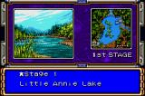 American Bass Challenge Game Boy Advance Choosing a level / lake