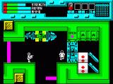 Rescue ZX Spectrum Trying to guide a running scientists, green alien teleporting in nearby and will attack soon