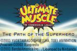 Ultimate Muscle: The Kinnikuman Legacy - The Path of the Superhero Game Boy Advance Title screen