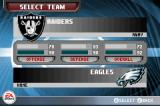 Madden NFL 06 Game Boy Advance Selecting a team.