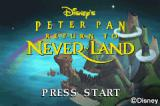 Disney's Peter Pan: Return to Never Land Game Boy Advance Title screen