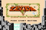 The Legend of Zelda Game Boy Advance Title Screen