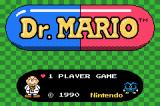 Dr. Mario Game Boy Advance Title Screen