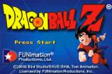 Dragon Ball Z: The Legacy of Goku Game Boy Advance Title Screen