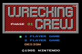 Wrecking Crew Game Boy Advance Title Screen