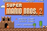 Super Mario Bros.: The Lost Levels Game Boy Advance Title Screen