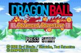 Dragon Ball: Advanced Adventure Game Boy Advance Alternate Title Screen