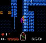 Disney's Beauty and the Beast NES Scaling a wall