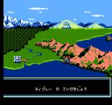 Ys III: Wanderers from Ys NES World Map